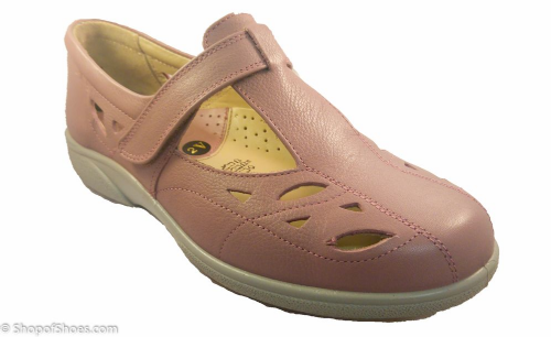 Flavia wide fit rose coloured Easy b shoe